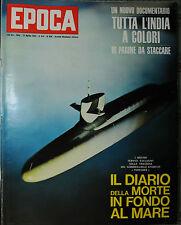 EPOCA N°656/ 21/APR/1963 * IL DIARIO DELLA MORTE IN FONDO AL MARE *TUTTA L'INDIA