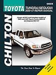 TOYOTA TUNDRA SEQUOIA SHOP MANUAL SERVICE REPAIR BOOK CHILTON 68609 - 2000-2007