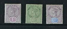 JAMAICA, QV, 1889 / 91, set of 3 stamps to 2 & 1/2d. value, MM, Cat £49.