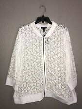 NWT Torrid White Lace Jacket w/Knit Hems Size 2X