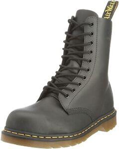 Dr Martens 7A18 10 Eyelet Black Steel Toe Cap Safety Boots UK 3 - 6 Deadstock