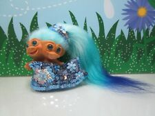 """Vintage 1965 Two Headed Mermaid - 3"""" Uneeda Troll Doll - New Hair & Eyes"""