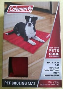 Coleman Pet Cooling Mat Red 12 x 16in Self Cooling for Cats or Dogs Brand New