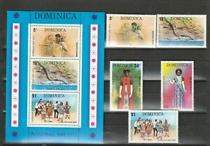 DOMINICA - 1973 MNH SG405-MS410 NATIONAL DAY - 5v + M/S