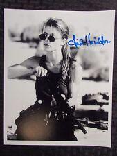 LINDA HAMILTON Signed Autographed 8x10 Glossy NM Terminator Sarah Loading Gun