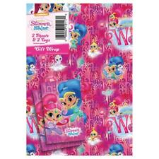 Shimmer & Shine Gift Wrapping Paper-2 Sheet and 2 Tags Si011