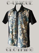 Rockabilly Short Sleeve Regular Casual Shirts & Tops for Men
