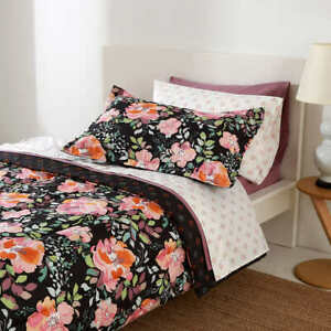 Berkshire Life,  8-piece Floral Comforter Bed-in-a-Bag Set (Size Twin XL)