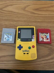 pokemon gameboy color with working Red and Silver edition