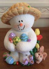 Sarah's Attic Large Snowonders Holidays Easter Elegance Snowman Figurine 1E/0520