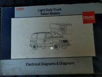 1989 GMC Light Duty Truck Safari Models Electrical Diagrams And Diagnosis Manual