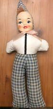 VIntage 1940 CARNIVAL DOLL, Plastic face, Cloth Body, Carnival Prize