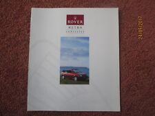 Rover Metro Cabriolet 1992-93 UK Market Foldout Sales Brochure pub no 4409