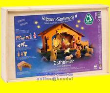 OSTHEIMER 60201 Krippen Sortiment II Set 13teilig inkl. 12 Figuren + Krippe 3500