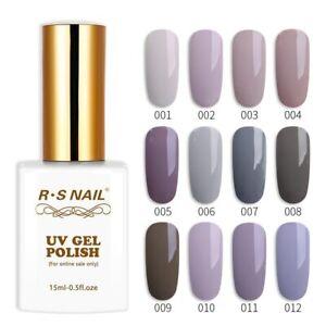 RS NAIL purple gray color  Glitter Gel Nail Polish UV LED  Nail Gel Varnish 15ml