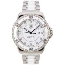 TAG HEUER Ladies Formula 1 Diamond Stainless Steel Ceramic Chronograph Watch