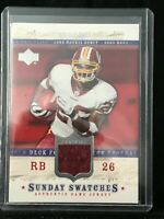 F30559 2005 Clinton Portis Redskins Jersey Sunday Swatches Upper Deck