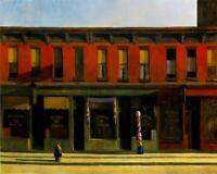 "1088 ART PRINT POSTER 11/"" X 14/"" 1930 HOPPER EDWARD EARLY SUNDAY MORNING"