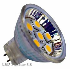 Caravan MR11 6 SMD LED 12V (10-30V DC) 90LM 1.2W Warm White Bulb (~15W)