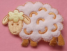 Sheep - Lamb - Farm - Flock - Terry Embroidered Iron On Applique Patch