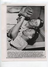Original 1954 Whitey Ford & Irv Noren Yanks Wire Photo