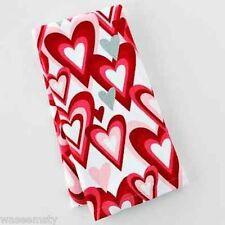 Love Red Pink Heart White Kitchen Hand Towel Decor