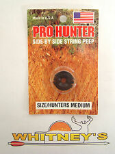 Gws Pro Hunter Side by Side String Peep Medium Black 2323