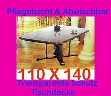 110x140cm Tischdecke Durchsichtig Transparent SCHUTZDECKE Tischtuch Vinyl Garten
