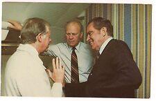 Jimmy CARTER Richard NIXON Gerald FORD For Anwar Sadat Mourning  POSTCARD 1981