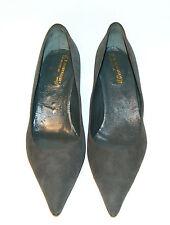 39½ eu - WOMAN POINTED PUMP - GREY SUEDE - LEATHER SOLE - HEEL 5,5cm