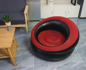 RED & BLACK SINGLE PERSON INFLATABLE CHAIR GAMING MOVIES SOFA FAMILY