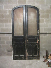 ~ Antique Double Entrance French Doors Semi Arched Top ~ 48 x 95 ~ Salvage