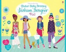 Sticker Dolly Dressing Fashion Designer Pad, Fiona Watt, New condition, Book