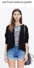 Madewell XS Black Zip Front Textured Jacket NWOT