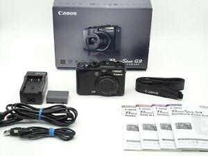 Canon Powershot G9 Digitalkamera Schwarz OVP -Vom Händler-
