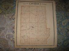 Fine Antique 1876 Putnam Hendricks County Map Danville Greencastle Plainville Nr