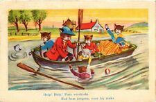 CATS PC Help! Help! Poes verdrinkt. Red hem jongens, voor hij zinkt. (a2127)