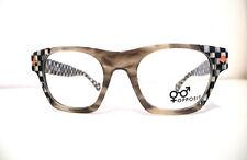 Opposit Montatura Quadrata Black&White Squared Eyeglasses Occhiali +Versace case