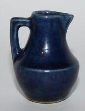 alter Keramik Krug,  blaue Lasur  ca. 1900 / 1920, 4,0cm, Puppenstube