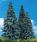 "NEW Woodland Blue Needle Trees 3.5-5.5"" Train Scenery N/HO TR3569"