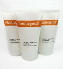 3 pc Neutrogena Acne Control Lotion w Benzoyl Peroxide Medication 1.4oz Expired