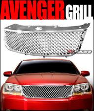 For 2008-2010 Dodge Avenger Chrome Luxury Mesh Front Hood Bumper Grille Guard