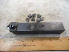 """VR/WESSON TDTR-16H 1"""" x 1"""" Shank Tool for Parting and Grooving W/INSERTS"""