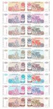More details for croatia serbian republic 50000 to 50 billion dinara set of 9 banknotes unc