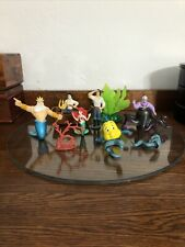 Vintage Disney The Little Mermaid Plastic Figures/Cake Toppers Set Of  10