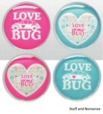 VW BEETLE LOVE BUG FRIDGE MAGNET GENUINE VOLKSWAGEN GIFT SET OF 4 PRESENT