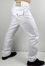 95a86608 True Religion Ricky Pop Red Super T Straight Indigo Fog Jeans - M859nzx7  46x34