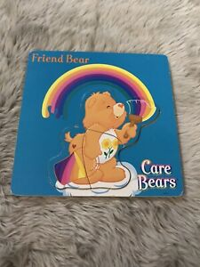 Vintage Care Bare Multicolored Wood Inlay 3 Piece Puzzle Friend Bear