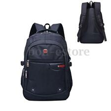 Men Nylon Backpack Sport Bag Outdoor Hiking School Travel Rucksack Bookbag Black