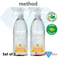 2 x Method Daily Shower Surface Cleaner 828ml Non-Toxic Plant Based